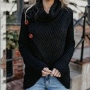 Fashion knit Sweater solid color Pullover